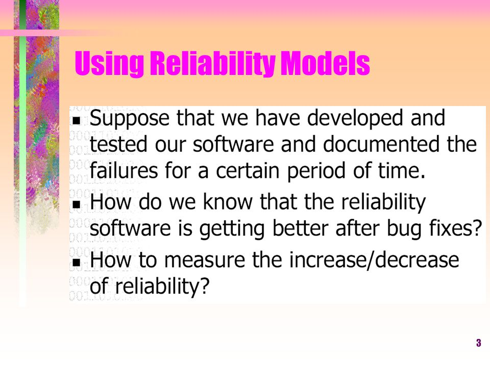 3 Using Reliability Models