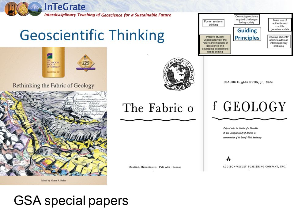 Geoscientific Thinking GSA special papers