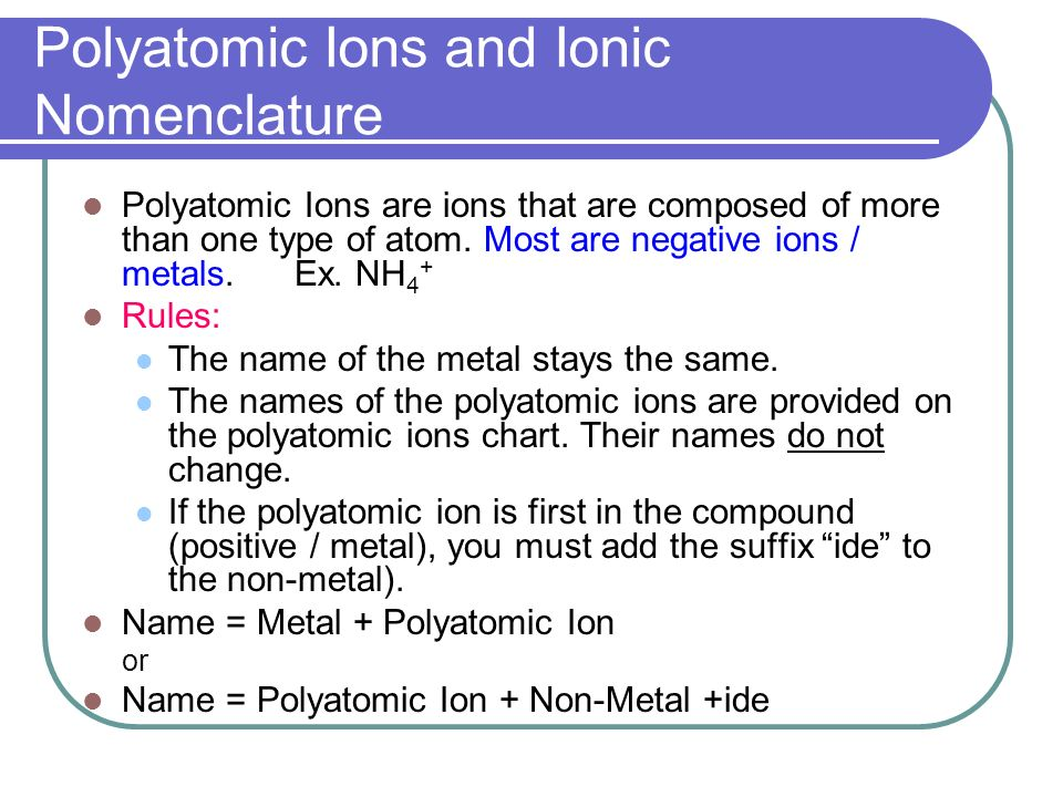 Nomenclature Ionic Compounds. Topics Ionic Nomenclature Standard