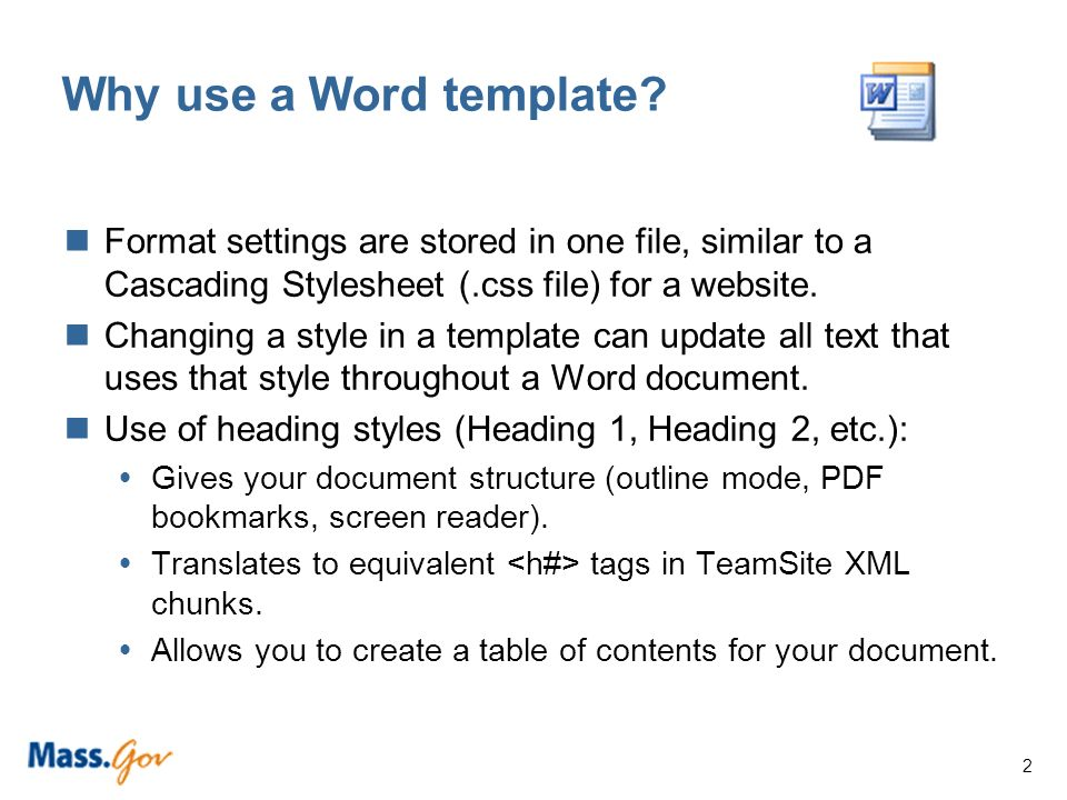 Microsoft word templates and accessibility 1 what is a word 2 why use a word template pronofoot35fo Gallery