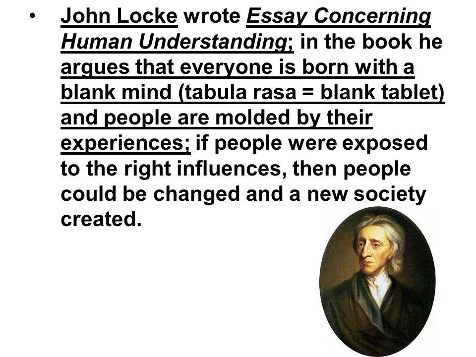 an essay in human understanding