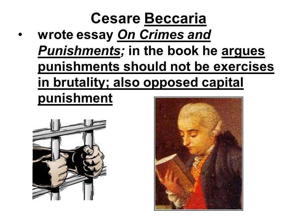 Cesare beccaria essay on crimes and punishments