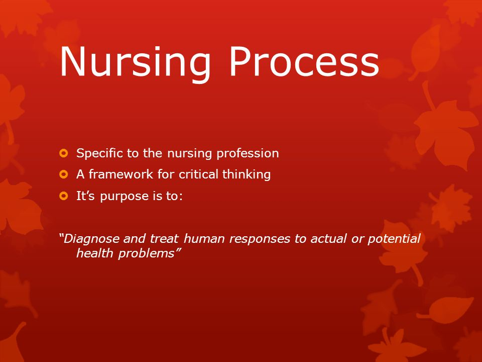 critical thinking and nursing process test