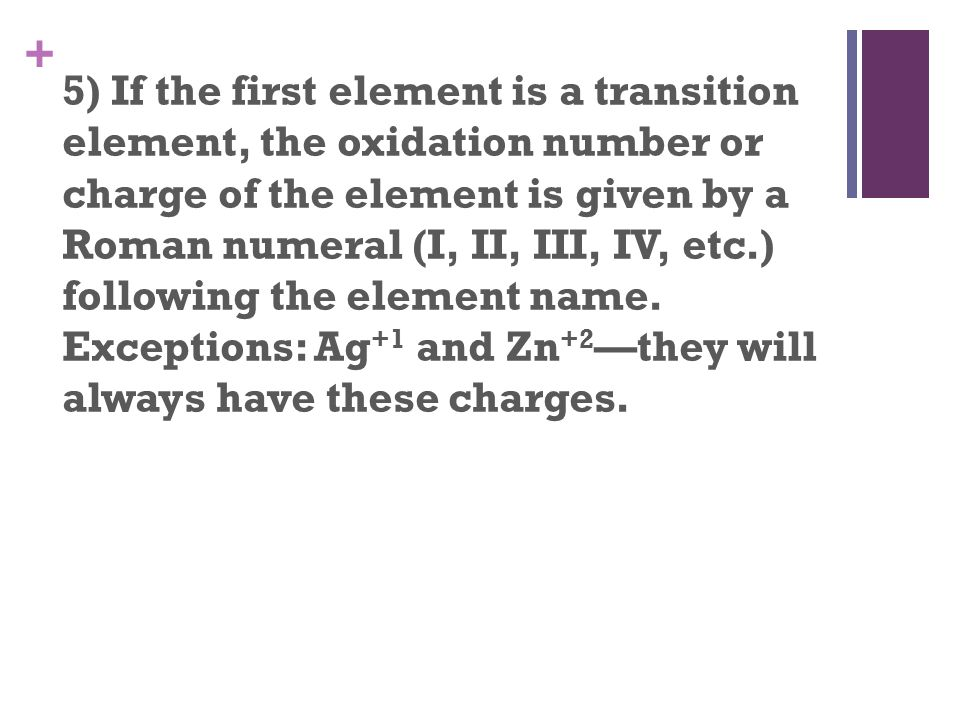 5 if the first element is a transition element the oxidation number or - Periodic Table With Charges And Oxidation Numbers