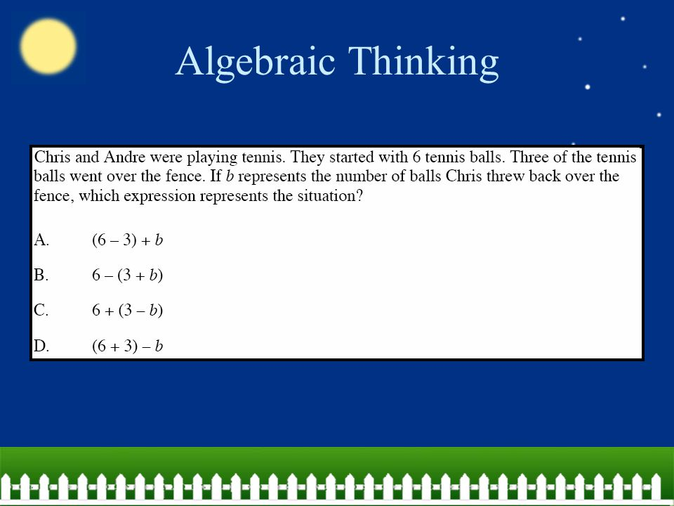 Algebraic Thinking