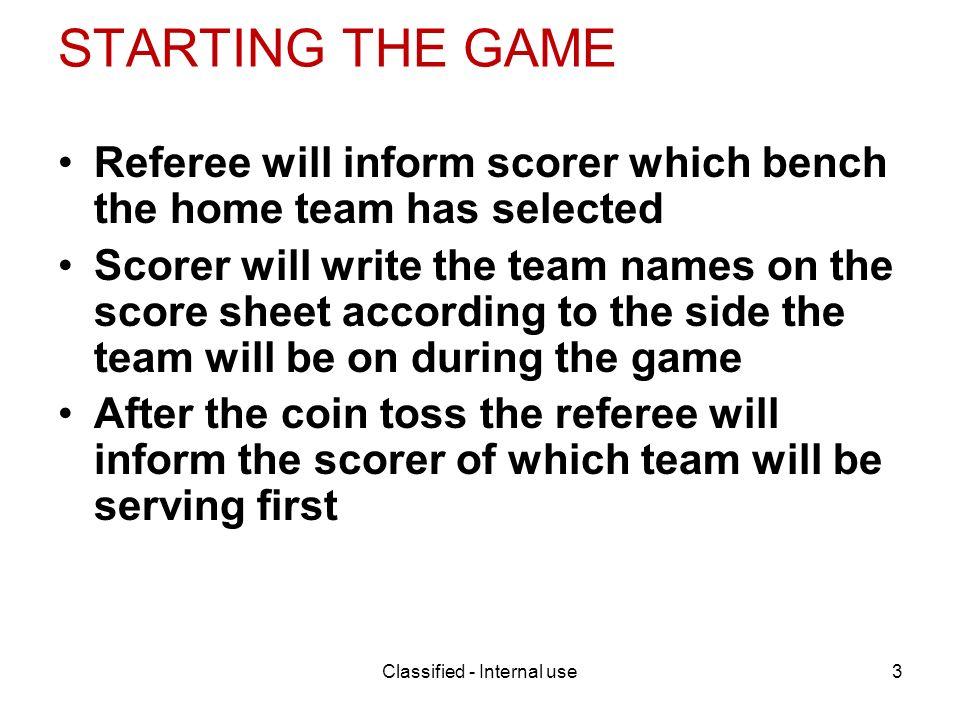 Brookwood High School Volleyball Scoresheet Guide Classified