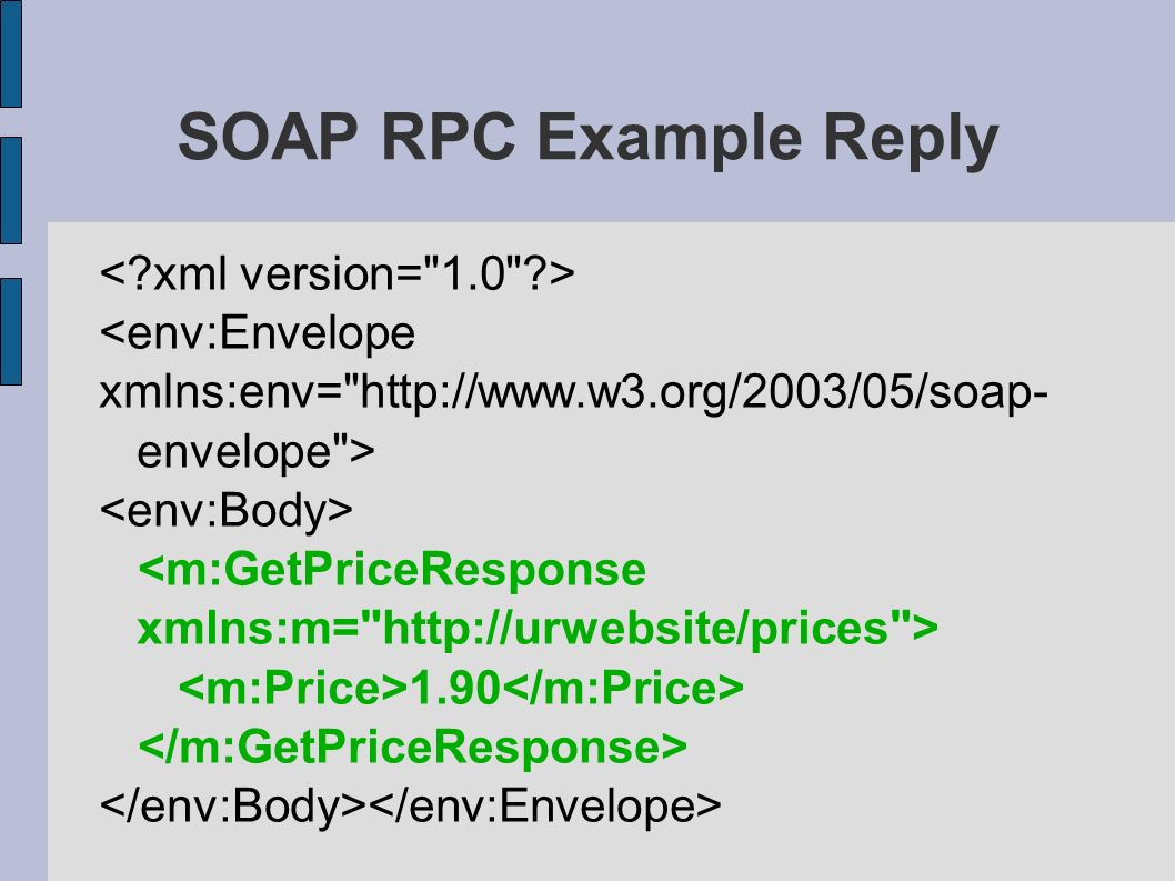 Soap simple object access protocol by vinubalaji gopal vinu 10 soap rpc example reply 190 baditri Image collections