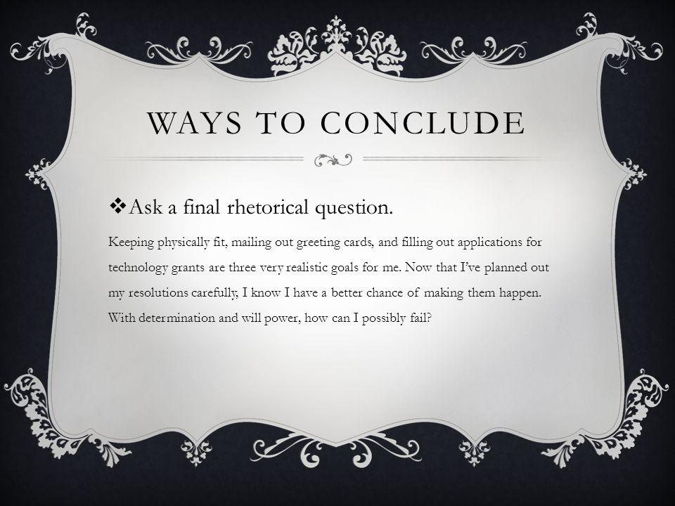 Ending An Essay