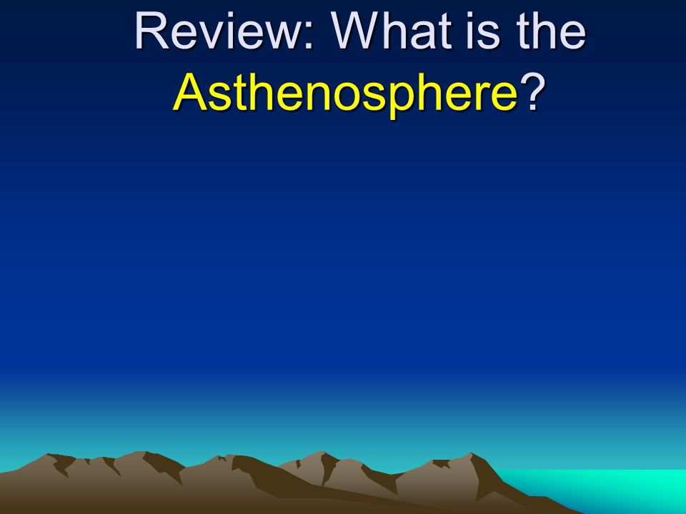 Review: What is the Asthenosphere