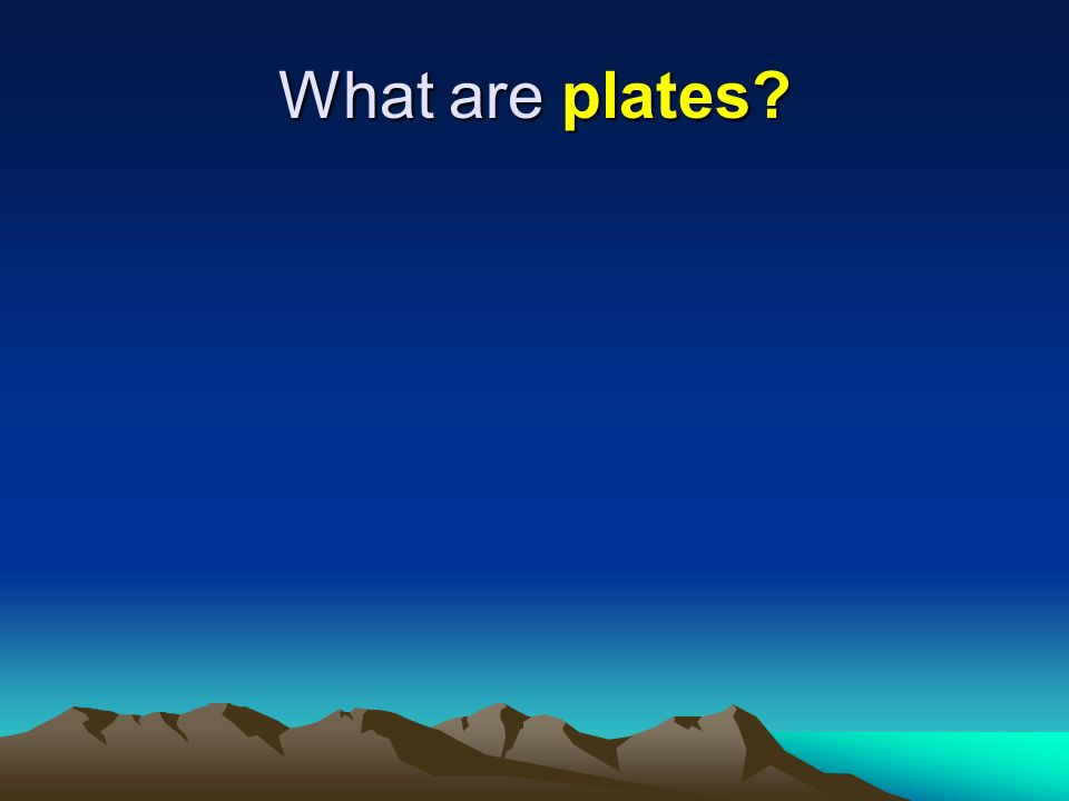 What are plates