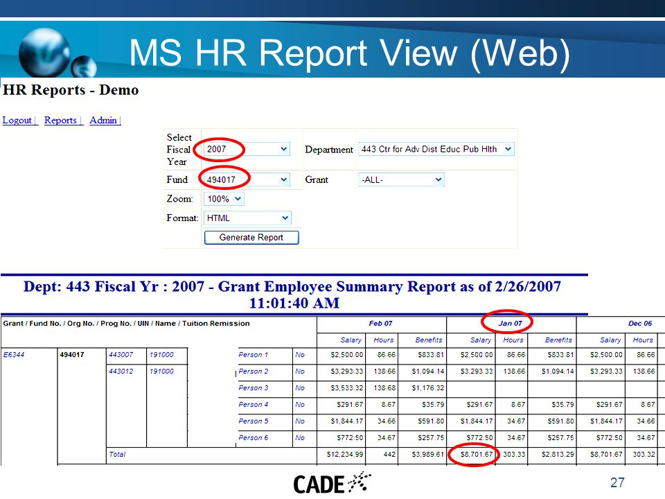 27 MS HR Report View (Web)