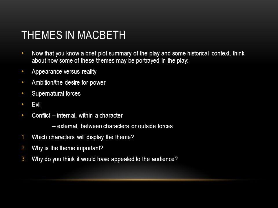 Macbeth themes????????????