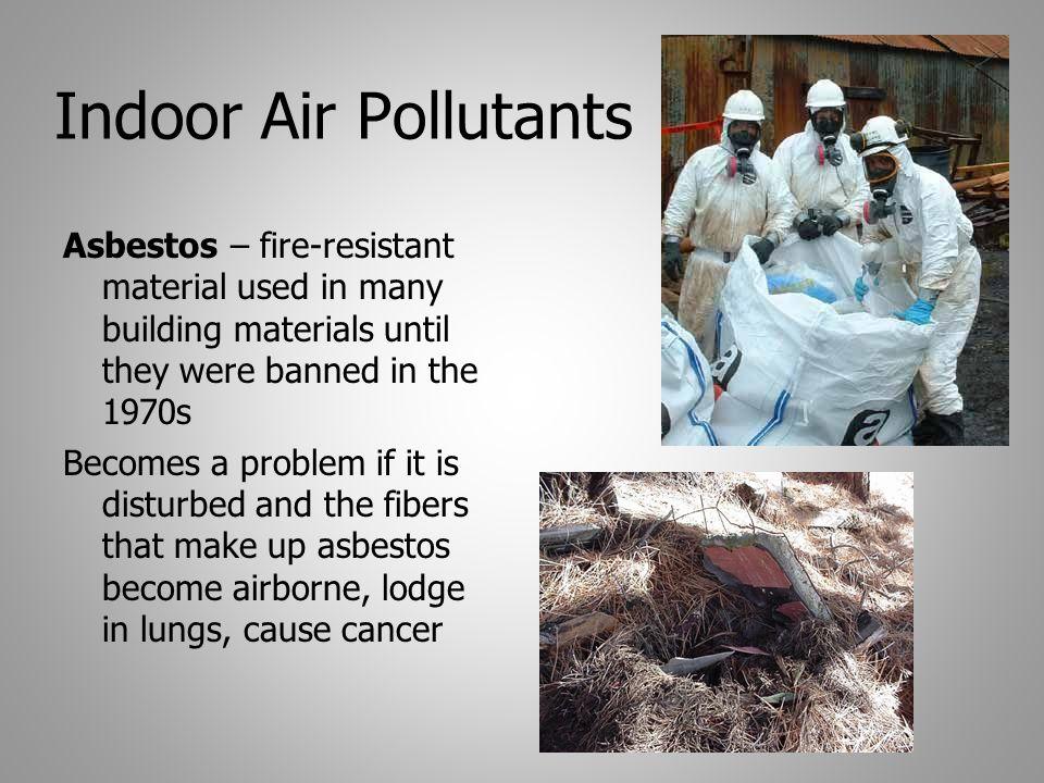 asbestos secondary air pollution