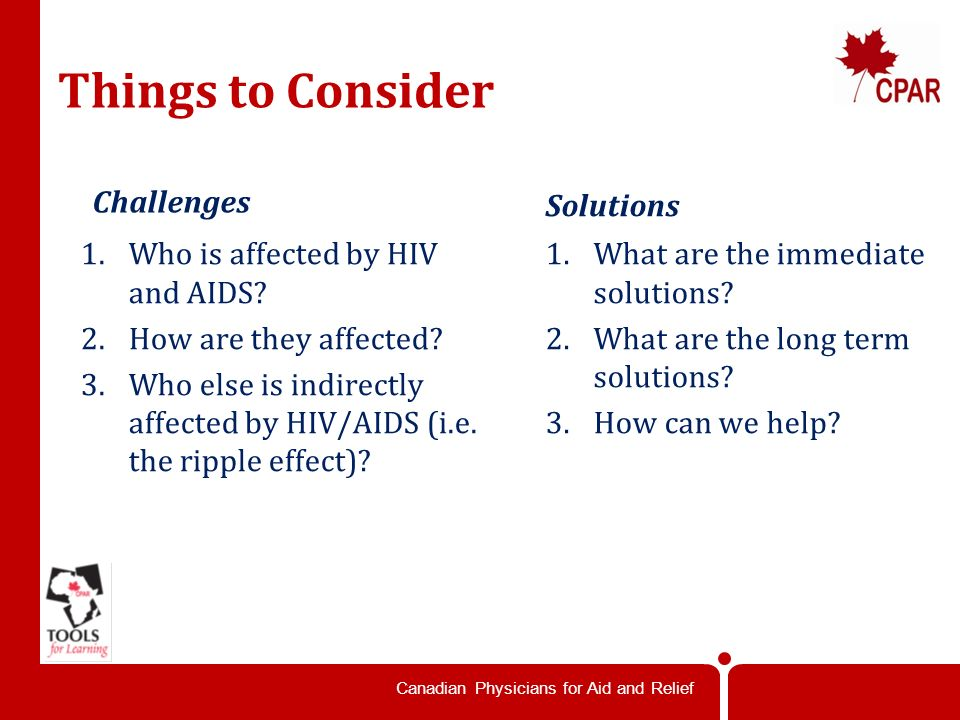 Canadian Physicians for Aid and Relief Individual Profiles How can we help