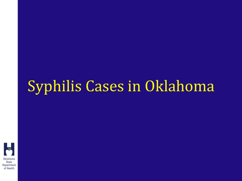 Syphilis Cases in Oklahoma