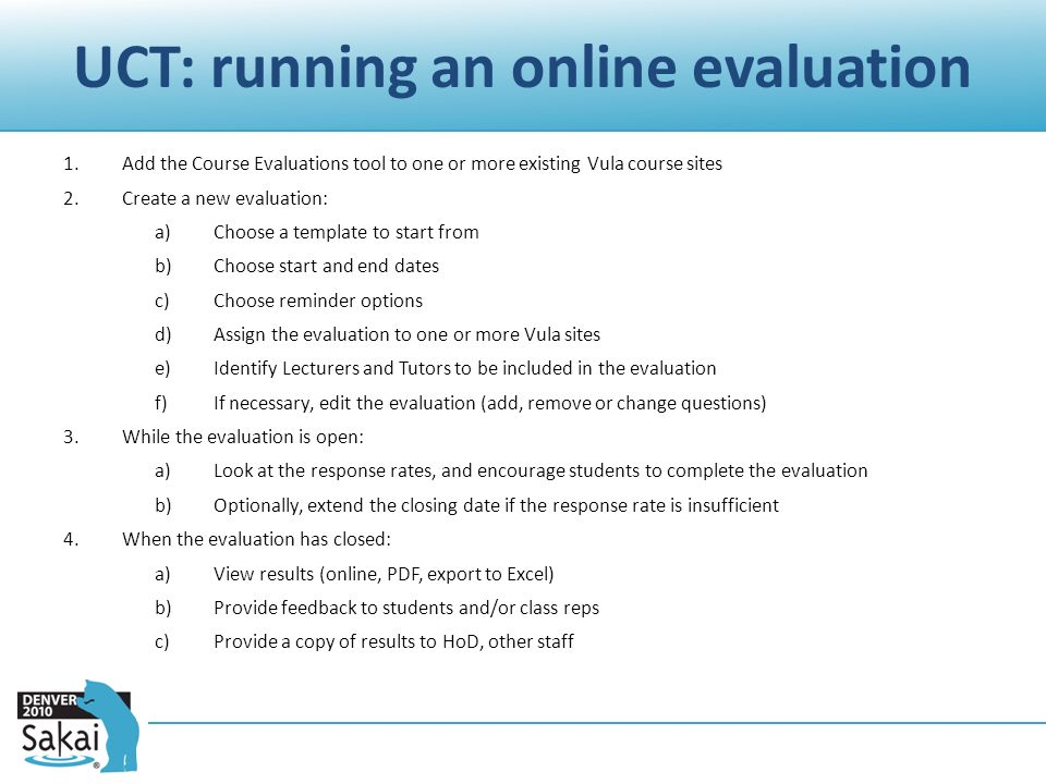 Sms Q&A Course Evaluations Stephen Marquard Centre For Educational