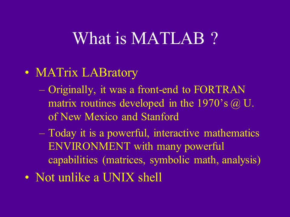 What is MATLAB .