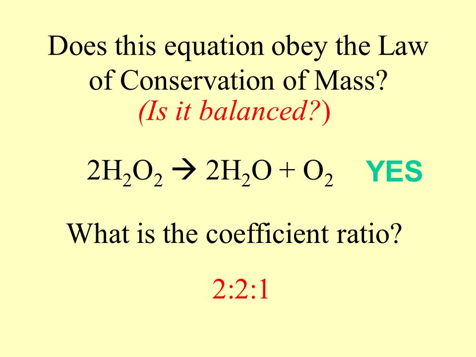 Which of the following equations is balanced.