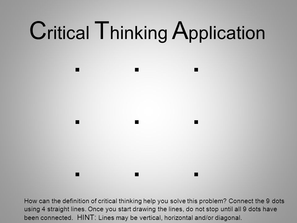 cricital thinking essays Importance of critical thinking skills 3 pages 721 words june 2015 saved essays save your essays here so you can locate them quickly.