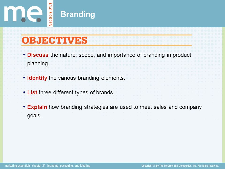 Discuss the nature, scope, and importance of branding in product planning.