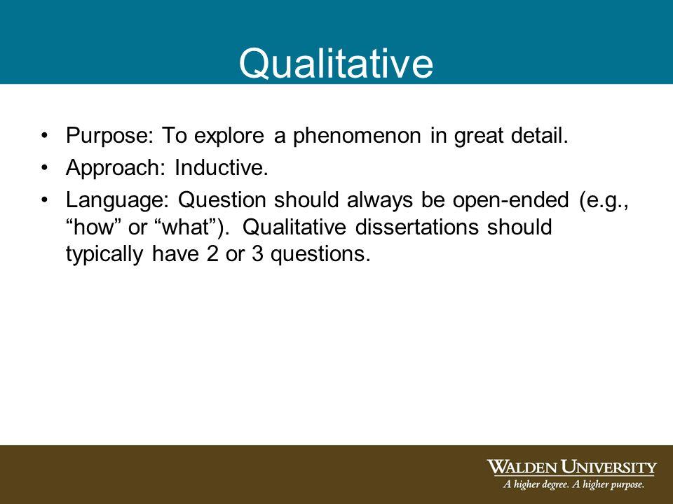 the purpose of this dissertation