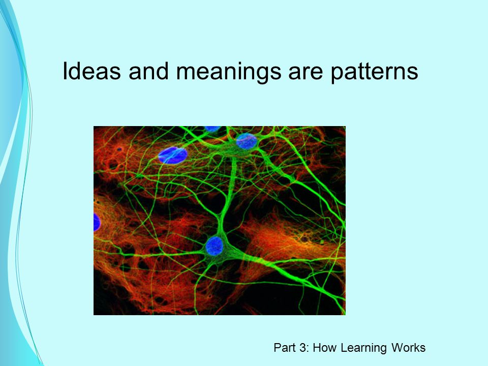 Ideas and meanings are patterns Part 3: How Learning Works