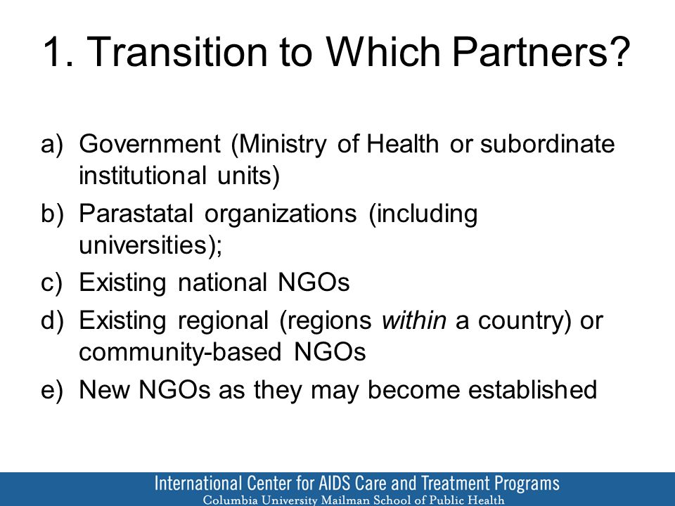 1. Transition to Which Partners.
