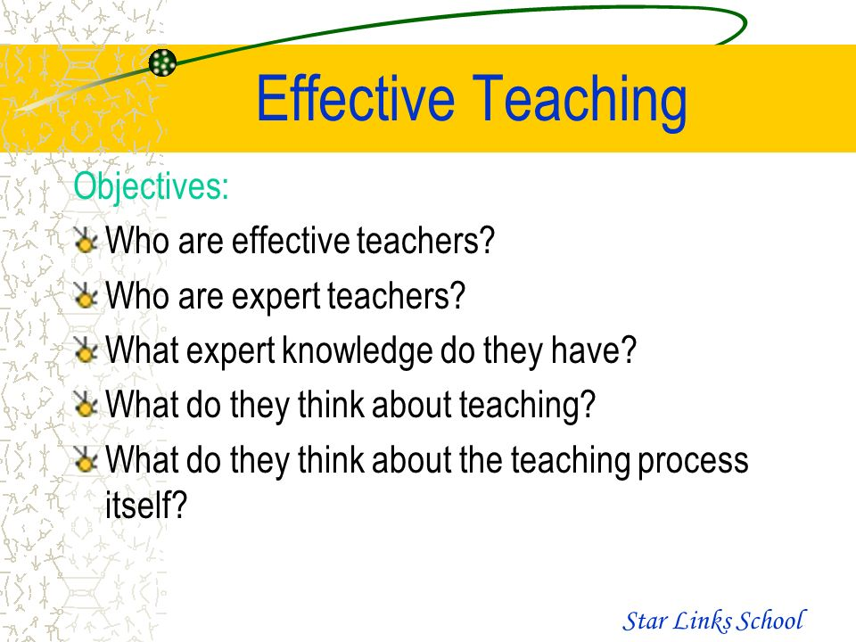 teaching objectives for teachers