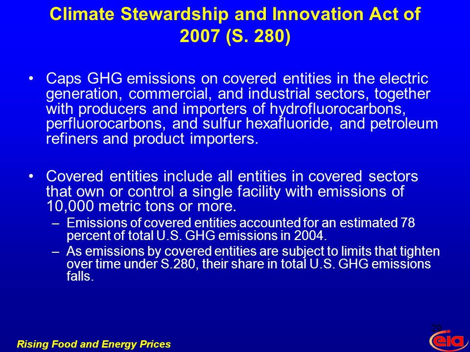 Rising Food and Energy Prices Climate Stewardship and Innovation Act of 2007 (S.