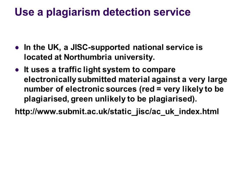 northumbria university plagiarism