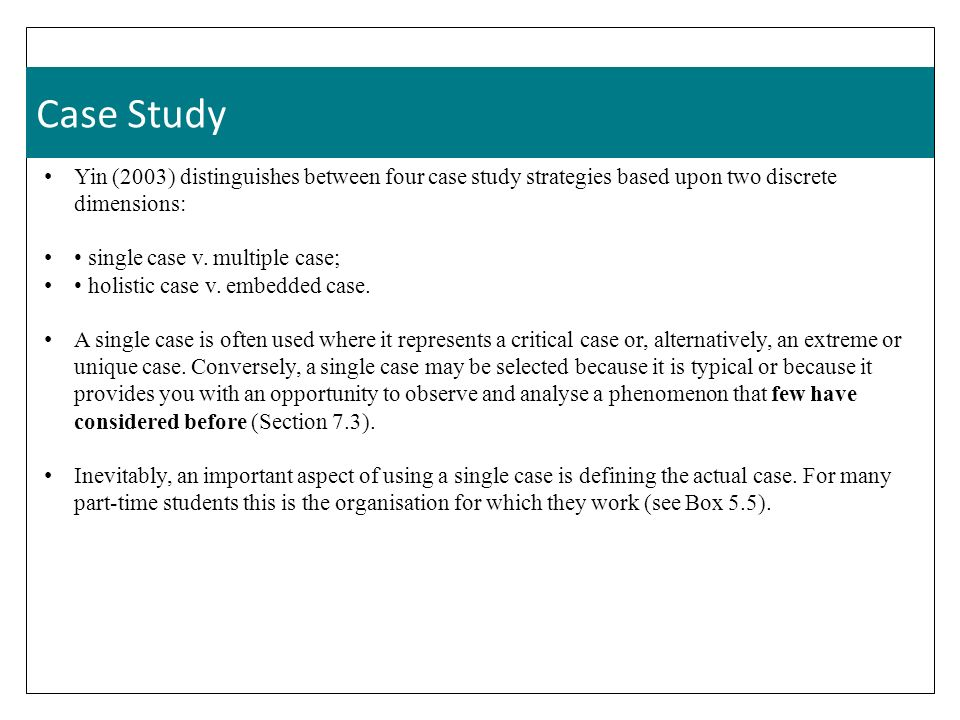 embedded multiple case study design