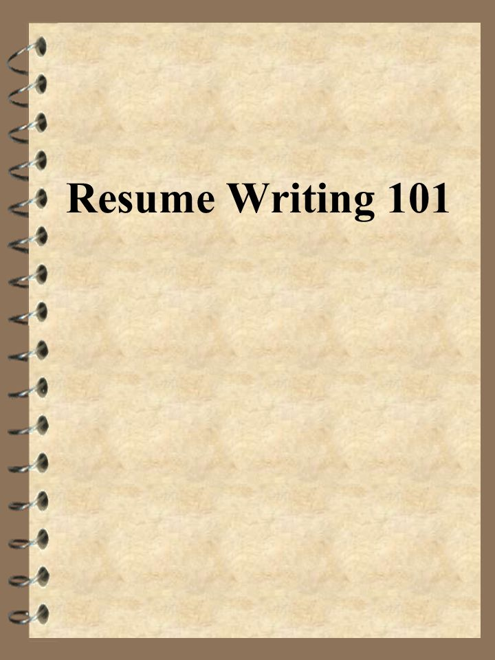 Resume Writing 101 What is the initial amount of time an employer