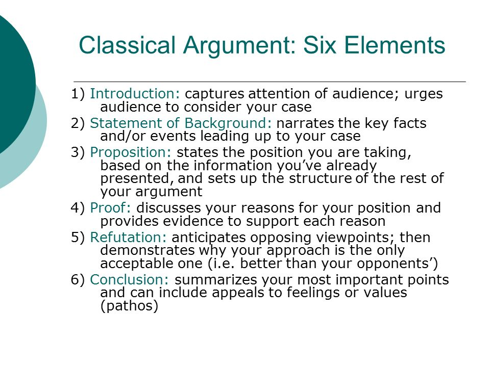 Examples Of Argument Essay