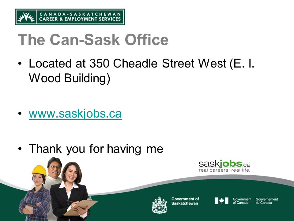 The Can-Sask Office Located at 350 Cheadle Street West (E.