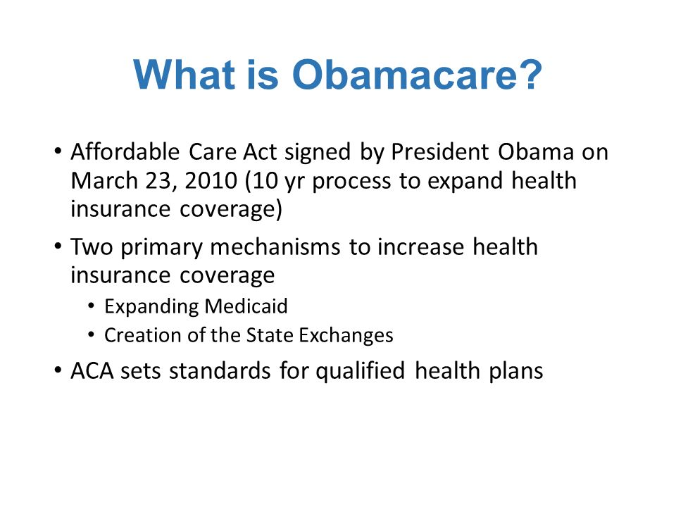 What is Obamacare.