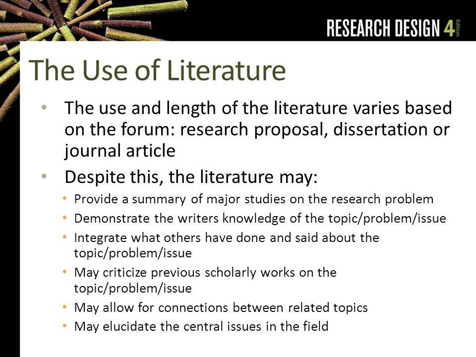 Usefulness of literature