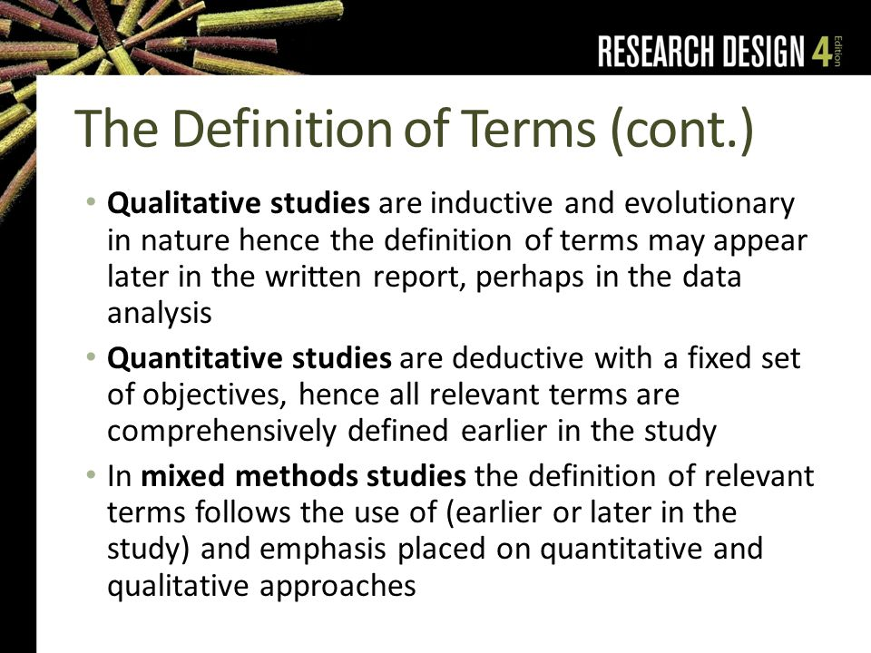 definition of terms in thesis writing