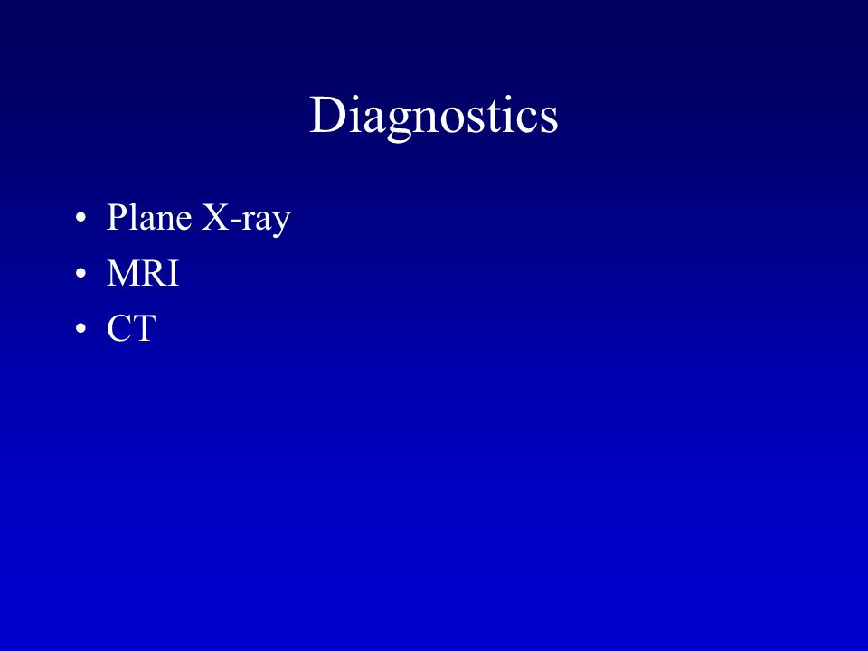 Diagnostics Plane X-ray MRI CT