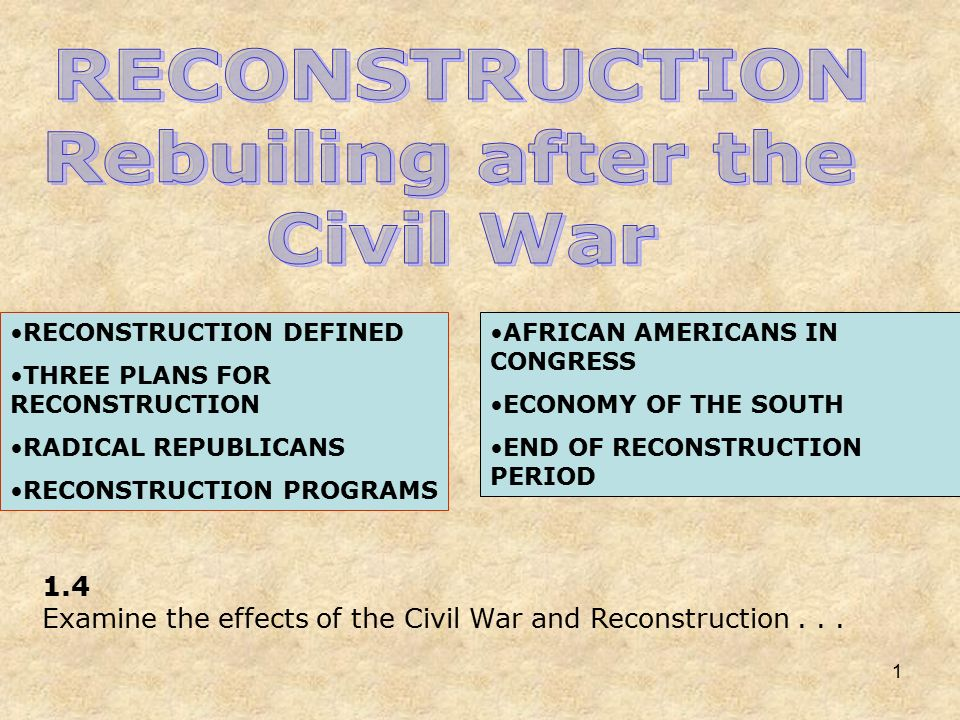 the effects of civil war on american economy
