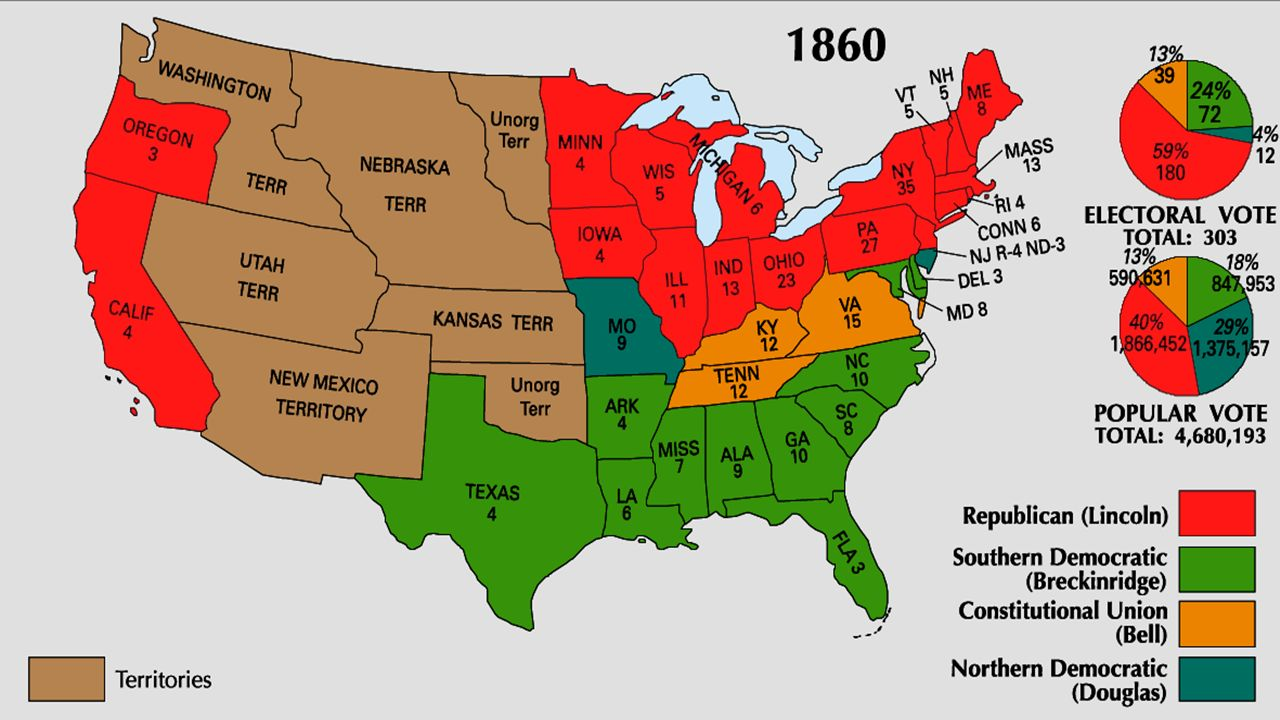 Best Images About  Antebellum America Maps FileBlank - Map of us in 1860 free and slave states