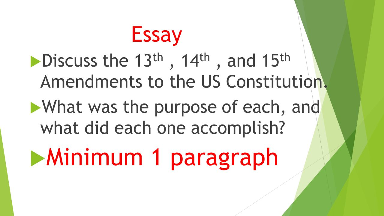 essay on the us constitution the constitution of the united states  chapter reconstruction test review carpetbaggers p 31 essay 61557 discuss