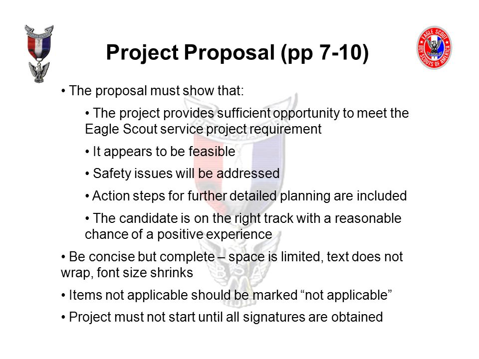Eagle Scout Project Proposal Example - Ex