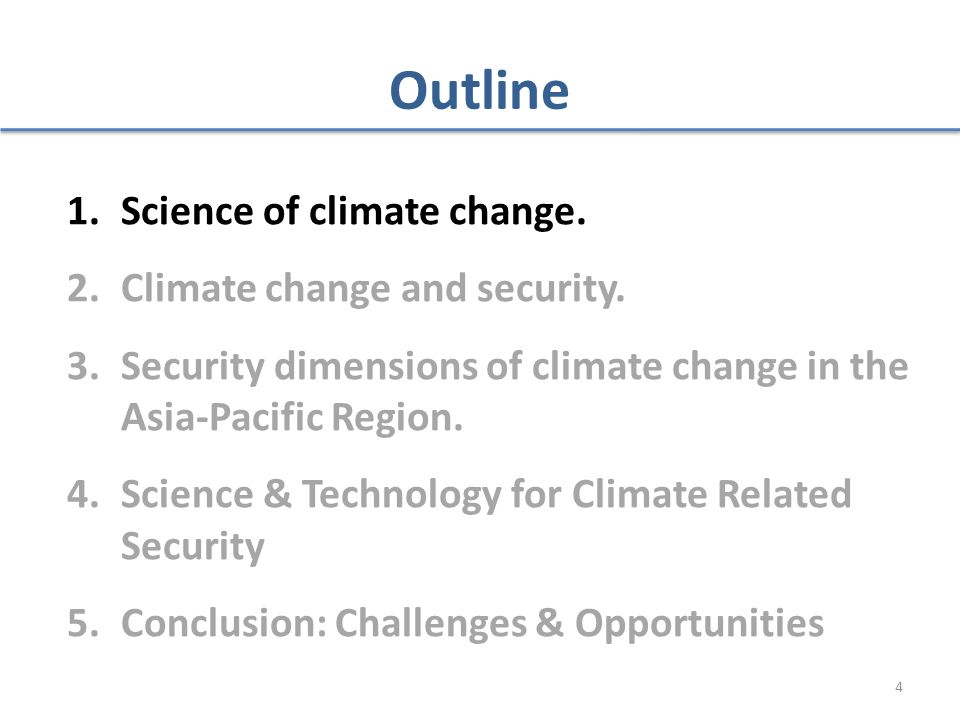 Trends and Implications of Climate Change for National and International Security