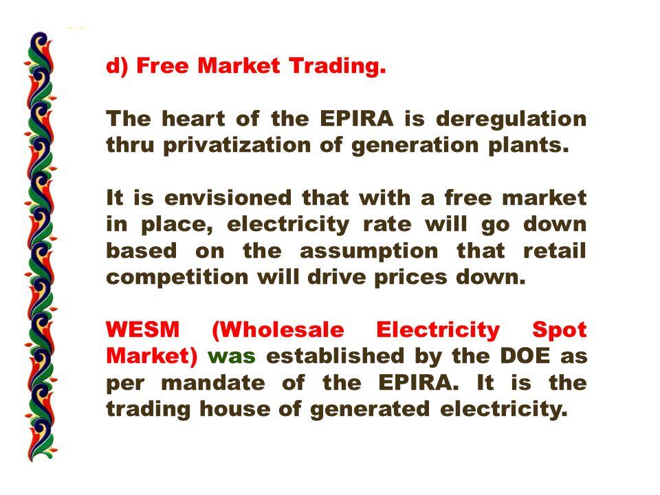 d) Free Market Trading.