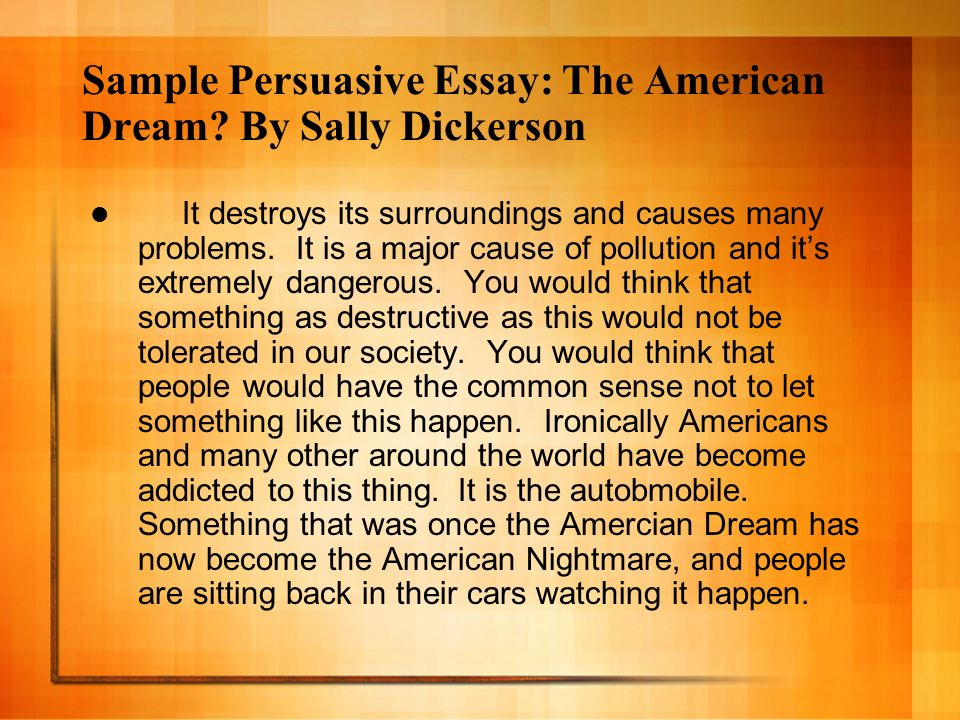The American Dream Definition Essay