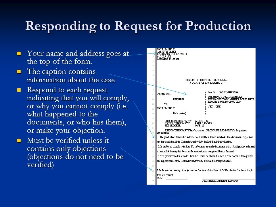 As a defendant can we in return ask for Interrogatories and Request for production of documents?