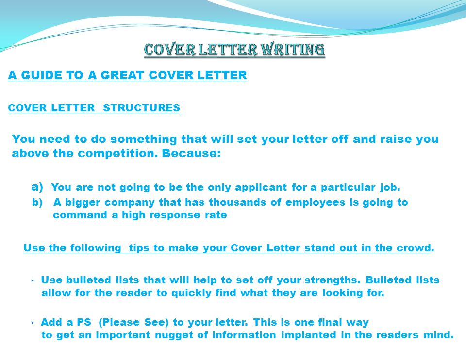Making Cover Letter