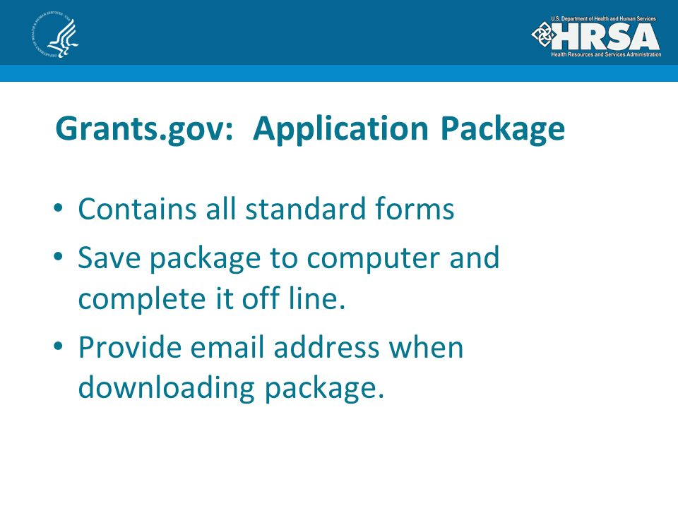 Contains all standard forms Save package to computer and complete it off line.