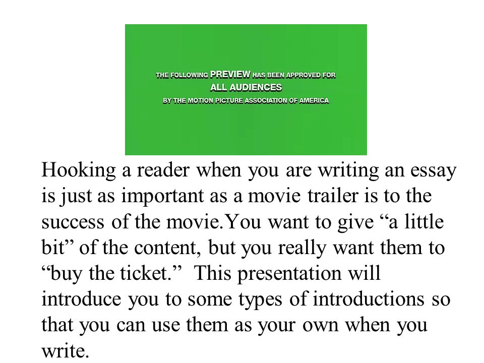 I need help from a person who writes great introductions!?