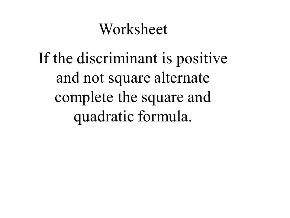 Complete The Square Worksheet Ukrobstep – Completing the Square Worksheet